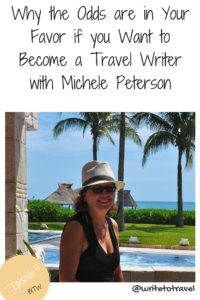 Podcast episode interviewing travel writer Michele Peteron