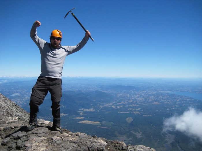 Adam at Volcan Villarrica; one of Chile's most active volcanoes