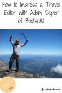 Podcast 07 Interviewing Adam Seper of BootsnAll