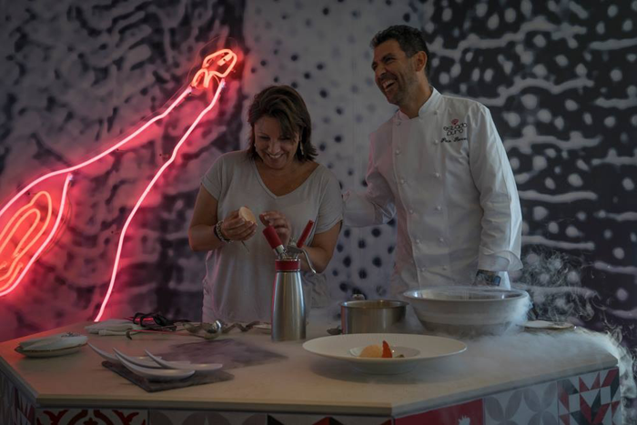 Gina with Chef Paco Roncero in Ibiza