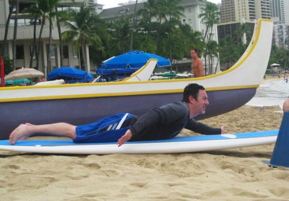 Todd's surf lesson with Waikiki Beach Services