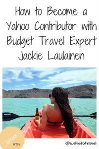 Podcast interviewing budget travel expert Jackie Laulainen