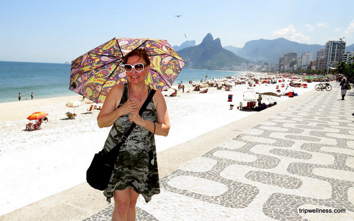 Elaine in Ipanema, Brazil.