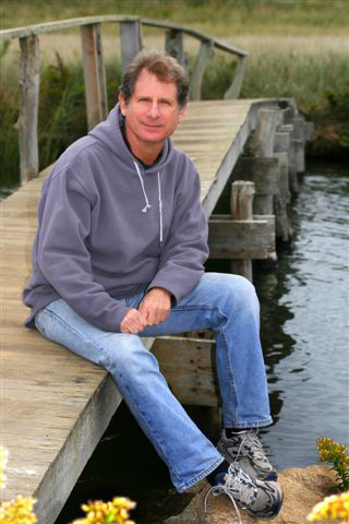 Perry on Quansoo bridge in Martha's Vineyard.