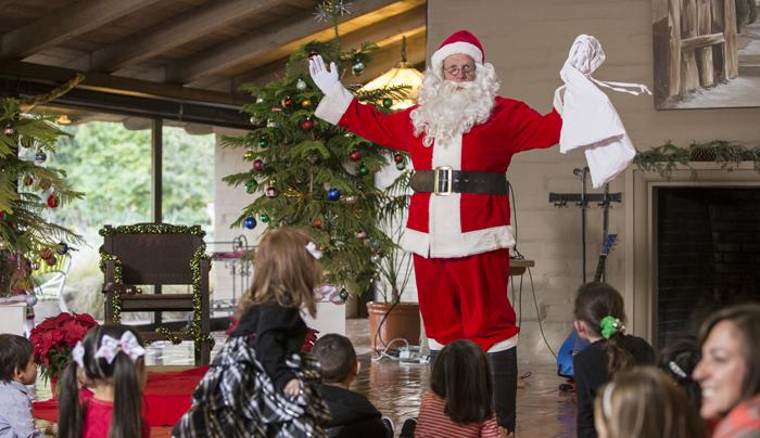 Bruce playing Santa.