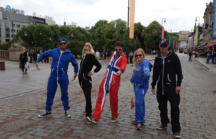 Lindsey with Ty Pennington and crew at the Norweign Design Tour in Norway