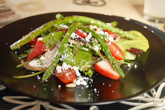 Asparagus salad at Sussana's.