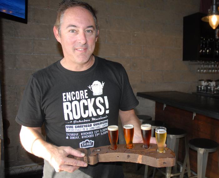 Todd beer tasting on our Media Visit to Oceanside