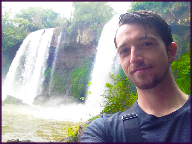 Timothy at Iguazu Falls in Argentina.