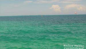 Caribbean sea in Cancun, Mexico
