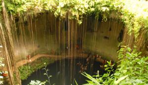 Ik Kil Cenote in Yucatan, Mexico