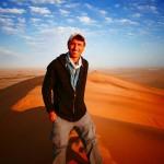 Francis at Dune 7 in Walvis Bay, Namibia.
