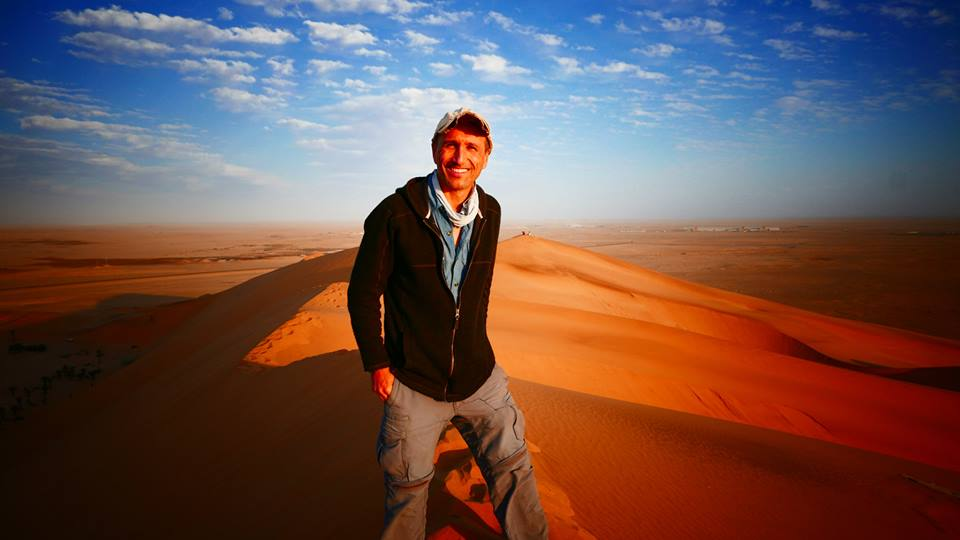 Francis at Dune 7 in Walvis Bay, Namibia.