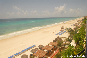 View from the balcony at Casa Magna hotel in Cancun.
