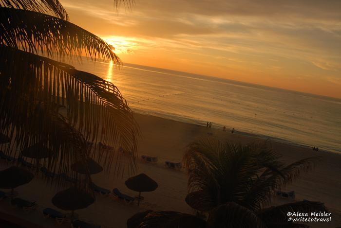 sunrise at casa magna hotel in Cancun, Mexico.