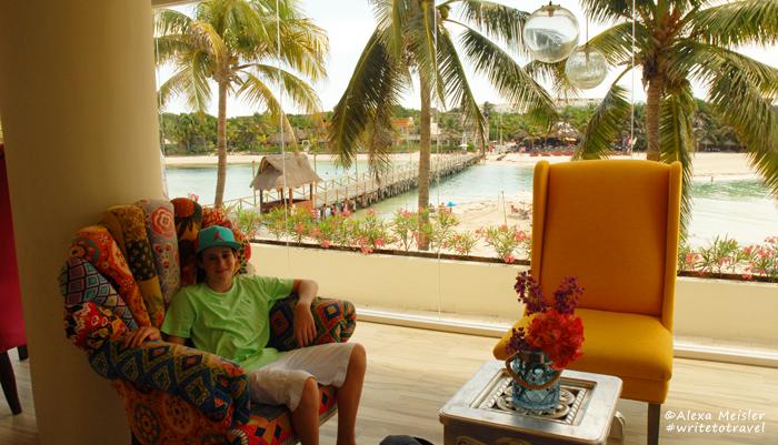 Lobby at Casa Mia in Isla Mujere