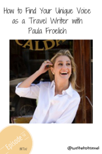 Interview with travel writer Paula Froelich