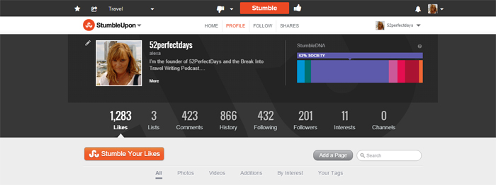 Stumbleupon for travel bloggers