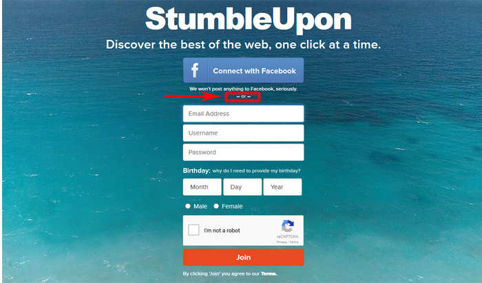 How to sign up for StumbleUpon for travel bloggers