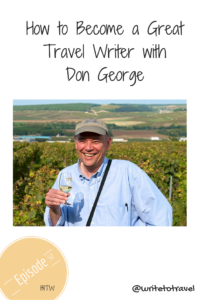 Interview with travel writer Don George
