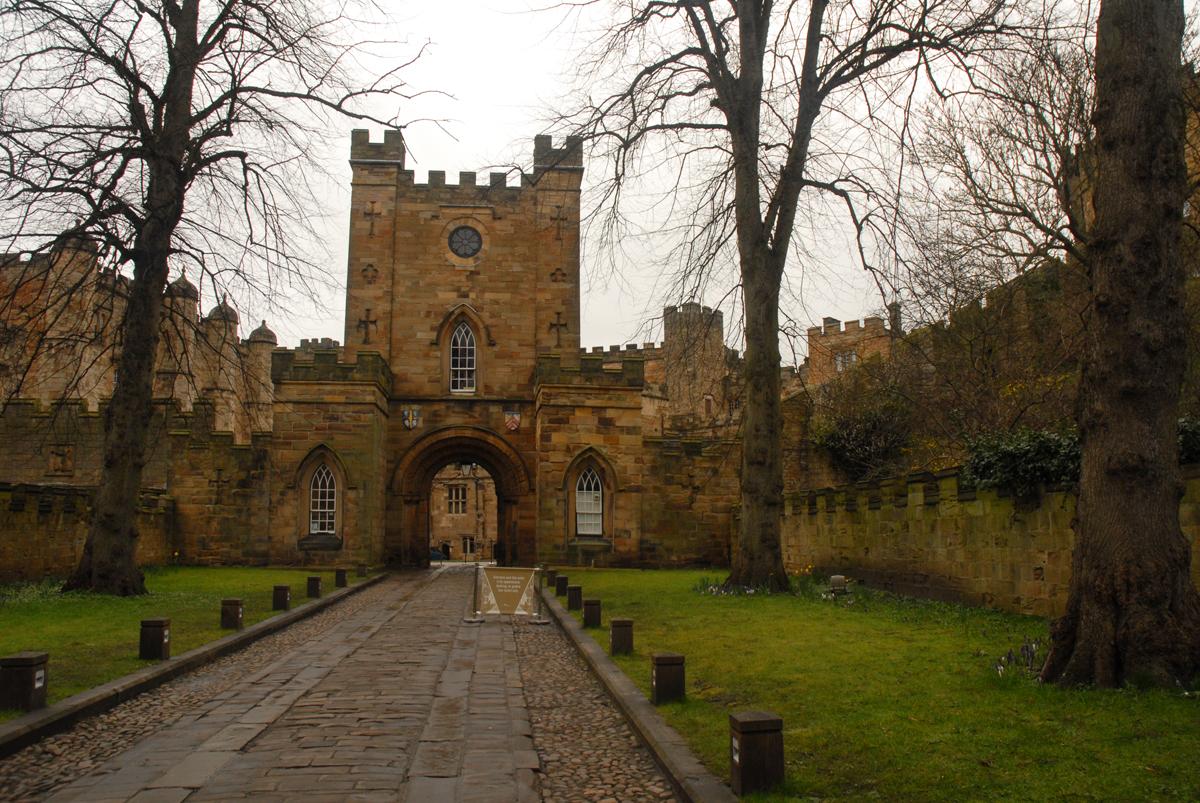 Durham castle in Durham, England