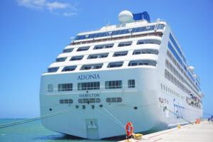 Fathom ship in port at amber cover in the dominican republic