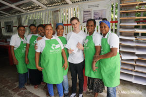Recycled Paper Impact activity on Fathom Cruise to Dominican Republic