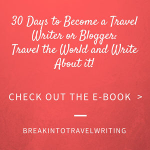 30 days to become a travel blogger