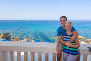 Brian & Amanda from EatWorkTravel.com in Villa Los Tronas in Alghero, Sardinia Italy