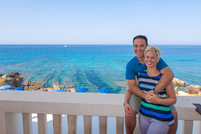 Brian & Amanda Heath from EatWorkTravel.com in Villa Los Tronas in Alghero, Sardinia Italy