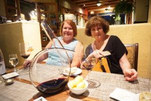 Laura Burns and Penny Williams at Hacienda Del Sol Resort in tucson, arizona