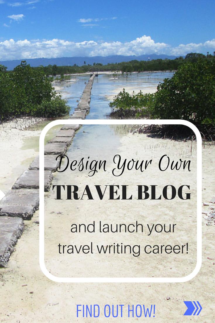 Design your own travel blog