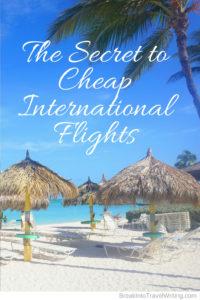 Secret to Cheap Flights