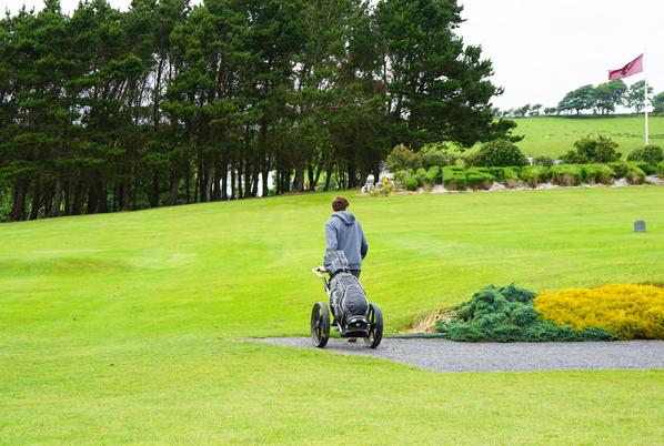 Roland golfing at Westport Golf Course in Ireland