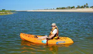 Gary House Travel Blogger kayaking