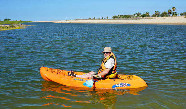Gary House Travel Blogger kayaking
