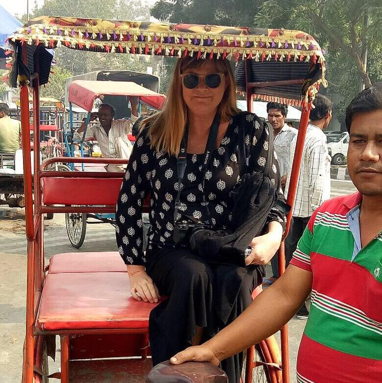 Rickshaw in Old Delhi, India