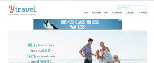 Y Travel Blog Website header