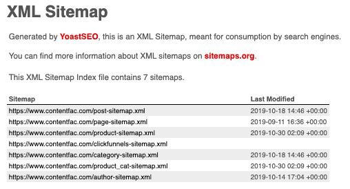 SML Sitemap