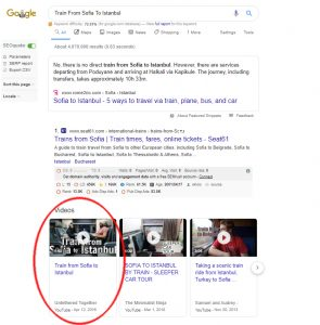 video search in google