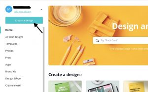 Create a Design for pinterest
