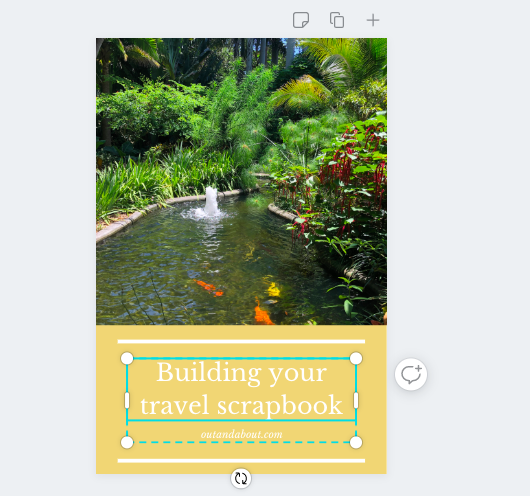 pinterest template with photo on canva