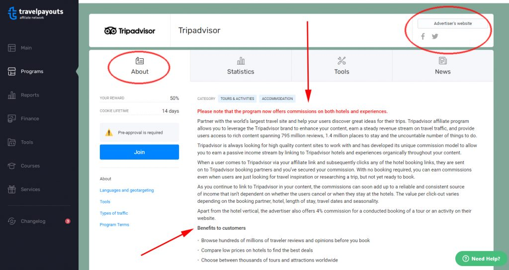 tripadvisor on travelpayouts