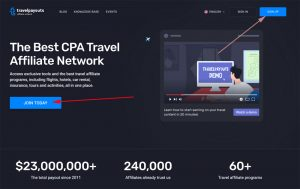 travel payouts sign up