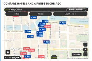 Stay22 map for hotel & airbnb
