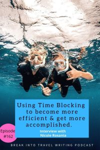 How to use the time blocking method and why it helps travel bloggers become more efficient and get more accomplished.