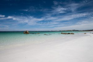Summer in St. Pabu in Brittany, France.
