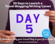 Travel Blogging E-book Day 5